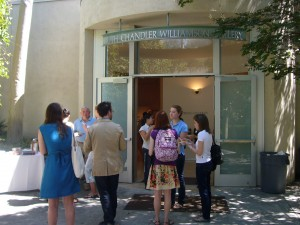 Students and Faculty outside the Ruth Chandler Williamson Gallery